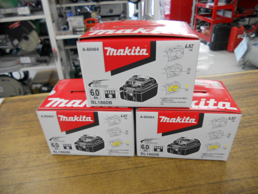マキタ 18V 6.0Ah バッテリーを入荷しました!