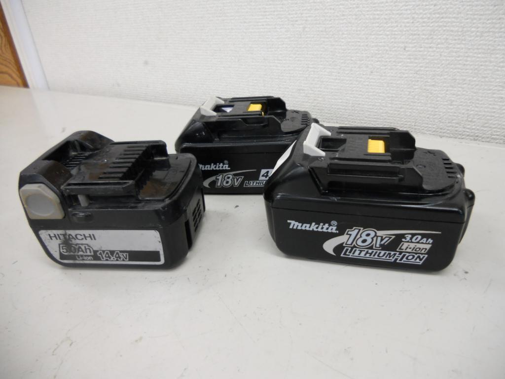 マキタ・日立、バッテリーまとめて購入しました。