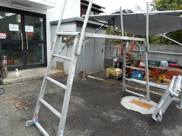 アルインコとピカのアルミ合金製可搬式作業台を買い取りしました!