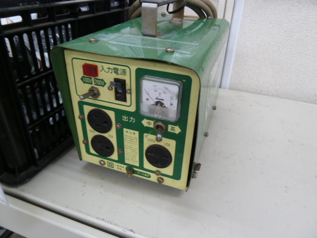 スズキッドのポータブル変圧器を買い取りしました!