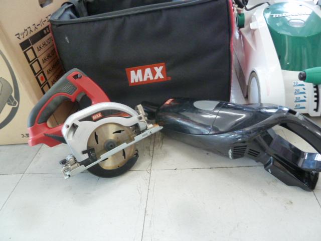 MAXの充電式マルノコPJ-CS51,充電式クリーナーPJ-HC11を買い取りしました!