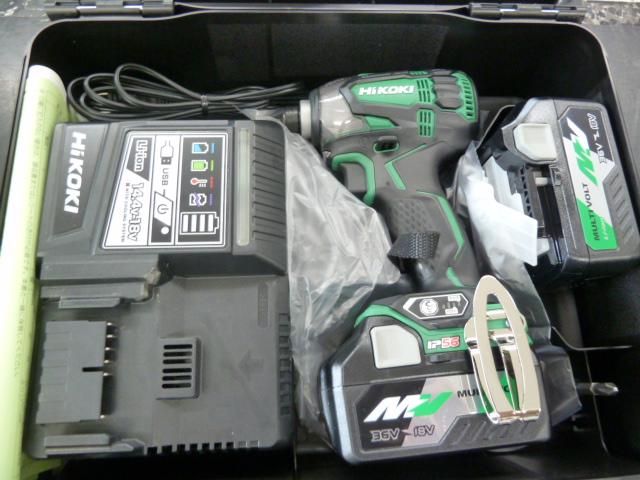 ハイコーキ(日立)36Vマルチボルト インパクトドライバーWH36DAを買い取りしました!岡山店