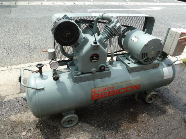日立ベビコン 7馬力 三相 200V 5.5P-9.5V6 販売中です。岡山店