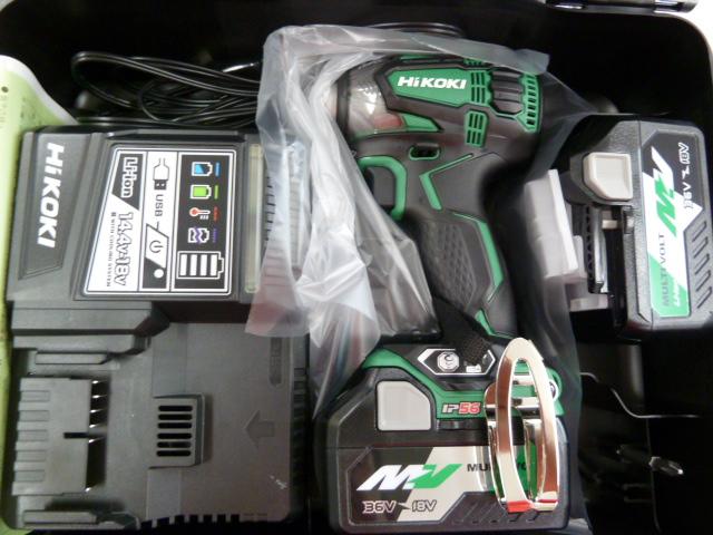 ハイコーキ(日立)36Vインパクトドライバ WH36DA(2P)新品を買い取りしました!岡山店
