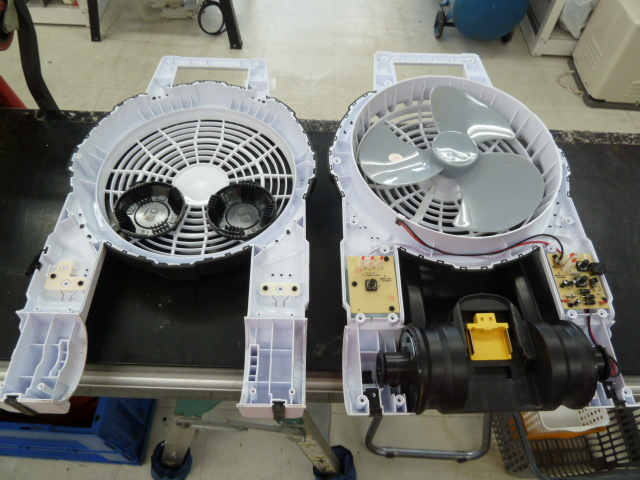 昨日、買取りましたマキタ充電式ファン CF201D、水洗いして使えなくなり解体、乾燥作業しました。岡山店