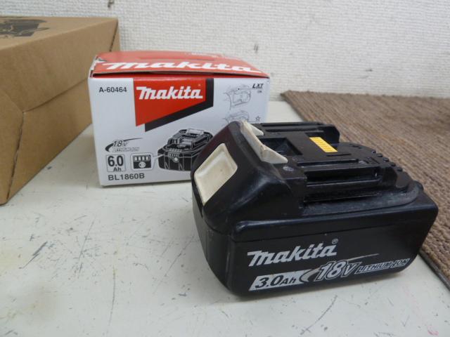 マキタバッテリー BL1860B、BL1830を買い取りしました!