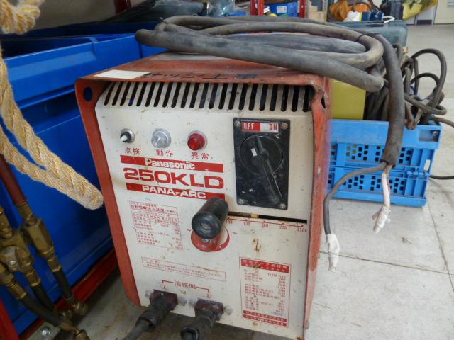 パナソニック 200V交流アーク溶接機 250KLDを買い取りしました!岡山店
