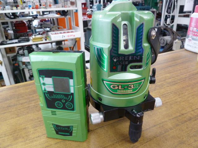 ヤマシン グリーンレーザー墨出し器 GL-3を買い取りしました!岡山店