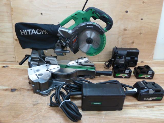 日立(ハイコーキ)美品36V充電式スライド丸のこ C3606DRA、AC/DCアダプター ET36Aを買い取りしました!岡山店