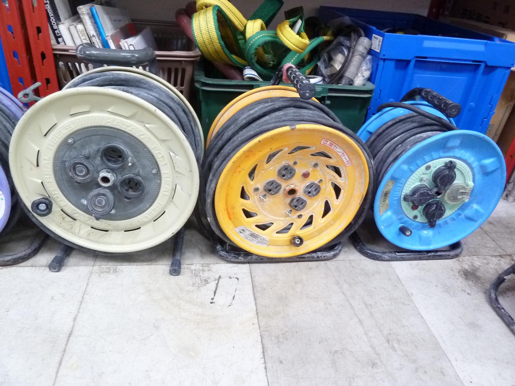 コードリール、日動・ハタヤ(電工ドラム )多数買取しました!岡山店