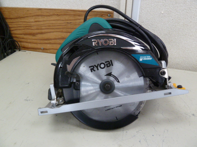 リョービ(RYOBI) 電子丸ノコ チップソー付 W-663EDを買い取りしました!岡山店