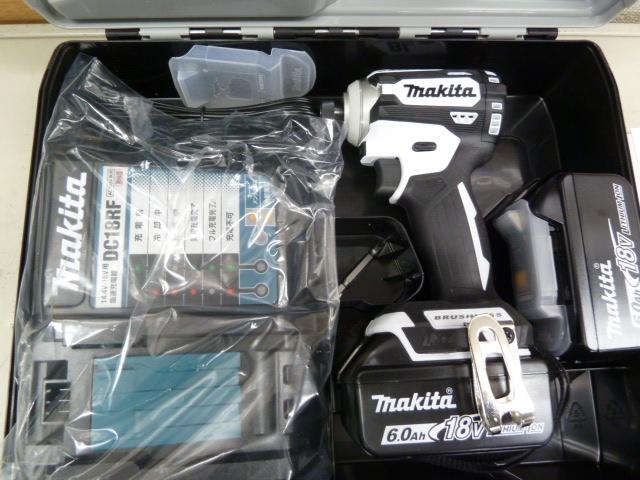 マキタ 18V充電式インパクトドライバー TD171DRGXWホワイト を買い取りしました!岡山店