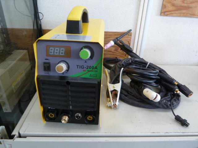 アーク・TIG兼用溶接機 インバータ-溶接機 高品質溶接機 TIG-200A 単相 200v を買い取りしました!岡山店