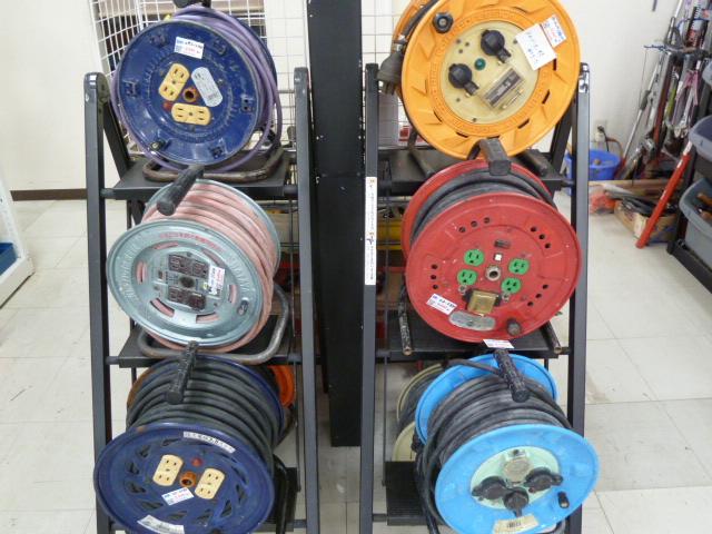 延長コード・電工ドラム・コードリール/日動・ハタヤ 多数存在あります。岡山店