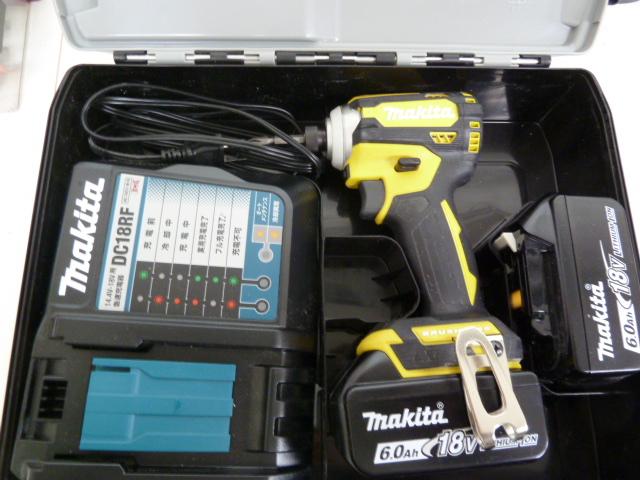 またまた、黄色の限定色マキタ18Vインパクトドライバー TD171DGXFY フレッシュイエローを買い取りしました!岡山店