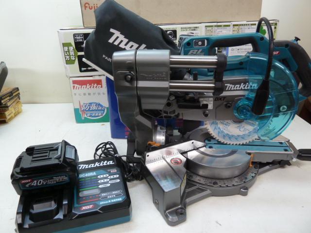 マキタ LS001GZ バッテリ・充電器付セット 40V 165mm充電式スライドマルノコ バッテリ:BL4025x2 充電器:DC40RA  を買い取りしました!岡山店