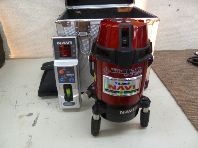 タジマツール 〔追尾・センサー・高輝度〕NAVI ZERO(ゼロ)レーザー墨出し器【フルライン】 ZEROSN-KJCSET を買い取りしました!岡山店
