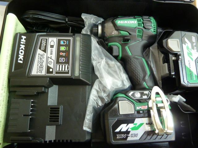 ハイコーキ HiKOKI(日立工機) WH36DA マルチボルト 36V 充電式インパクト ドライバーを買い取りしました!岡山店