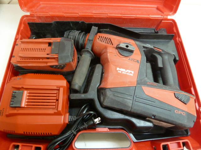 HILTI【ヒルティ】 36V充電ハンマドリル TE30-A36 バッテリー2個付き を買い取りしました!岡山店