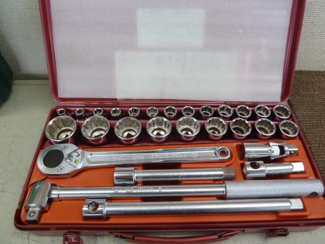 KTC 工具セット 未使用ソケットレンチセット No.B3022 を買い取りしました!岡山店