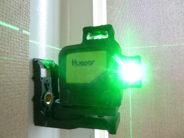 8ライン Huepar 2×360° レーザー墨出し器 グリーン 緑色 レーザー クロスライン 自動水平 高輝度 高精度  902CG を買い取りしました!