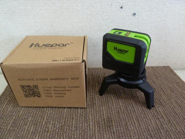 Huepar 2ライン グリーン レーザー墨出し器 2ポイント 緑色 クロスラインレーザー  HP-221G を買い取りしました!