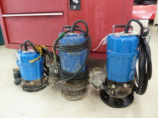 ツルミポンプ サンド用水中泥水ポンプ HSD2.55S・HSR2.4S 岡山店に在庫あります。