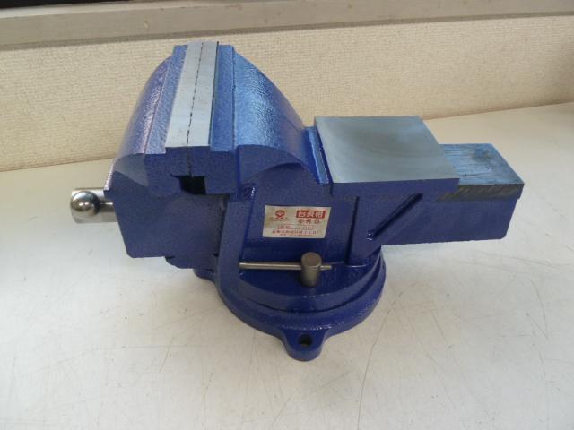 万力 回転式 リードバイス (大) 150mm 6インチ 3点固定 定盤付き 強力バイス 作業台