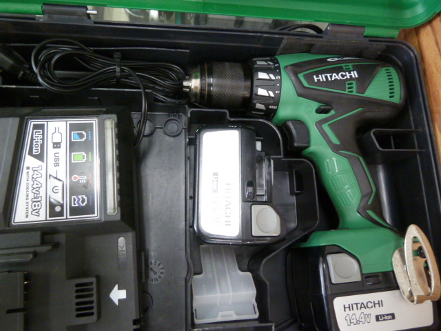 ハイコーキ(日立) ドライバドリル  14.4V DS14DBEL を買取しました。岡山店