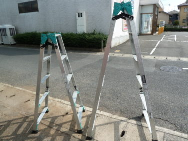 ハセガワ 脚部伸縮式アルミはしご兼用脚立 RYZ型 6段 RYZ1.0-18、5段 RYZ1.0-15 を買取しました。岡山店